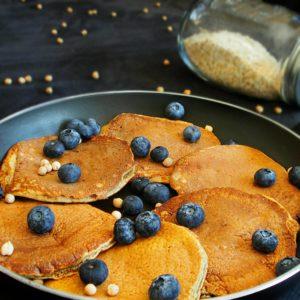 pancakes à la farine de pois chiche