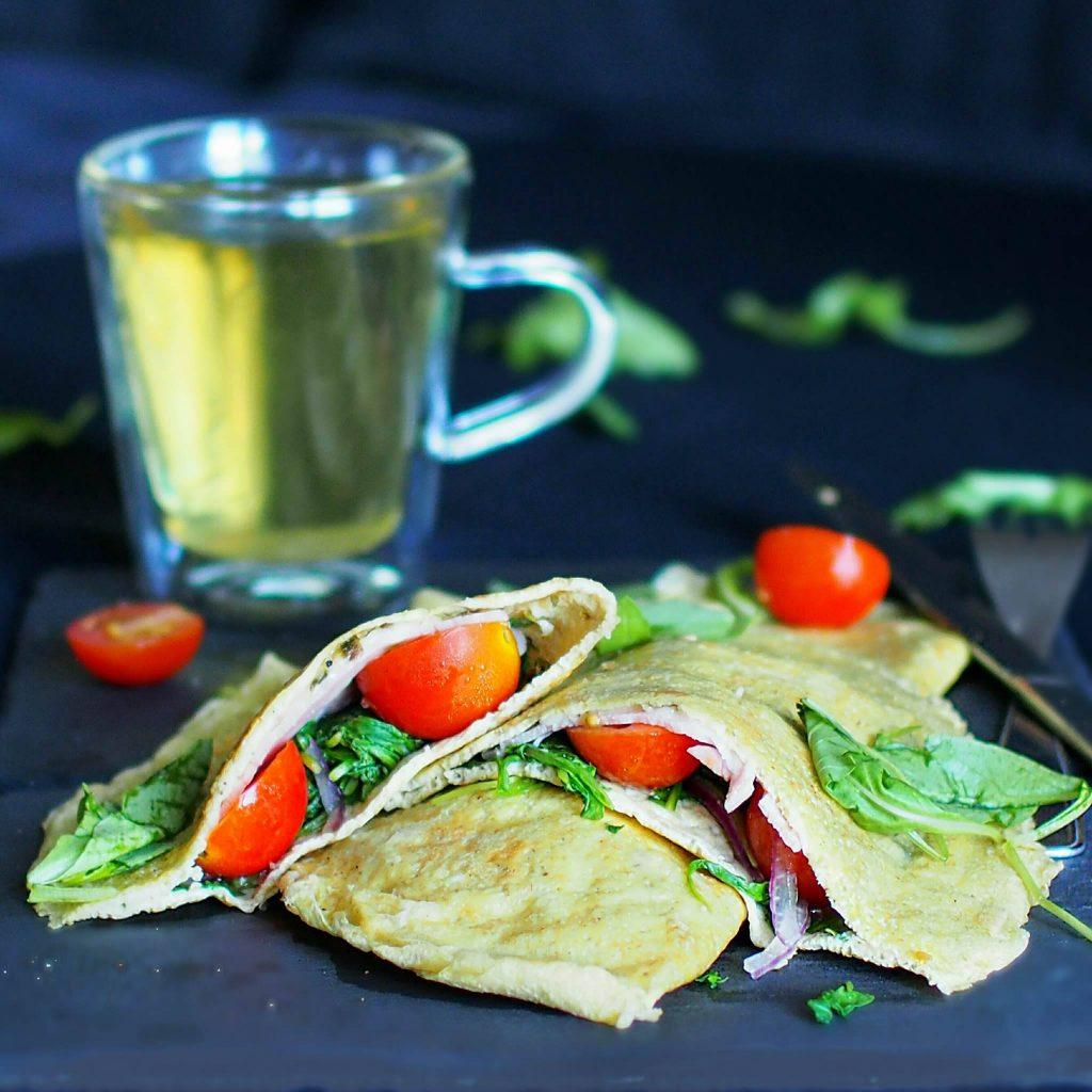 crêpe omelette salée fourée