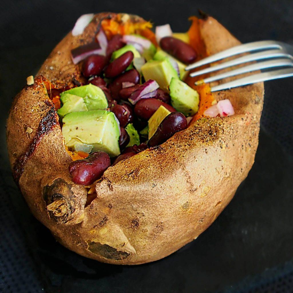 Patate douce fourrée à la mexicaine. La recette de Mail0ves - MailoFaitMaison