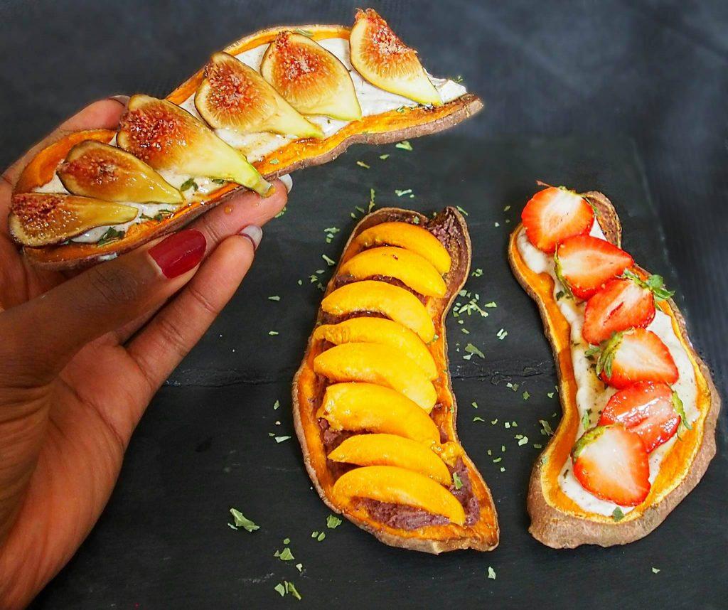 tartine sans pain sucrées saines et savoureuses La recette de Mail0ves - MailoFaitMaison