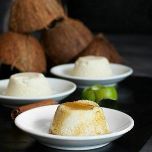 Flan au coco antillais, la recette saine de Mail0ves - MailoFaitMaison