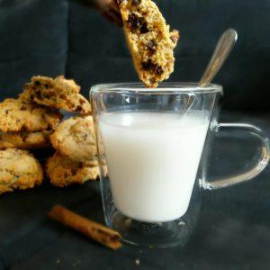 Cookies sains sans beurre amande et avoine aux pépites de chocolat de Mail0ves - MailoFaitMaison