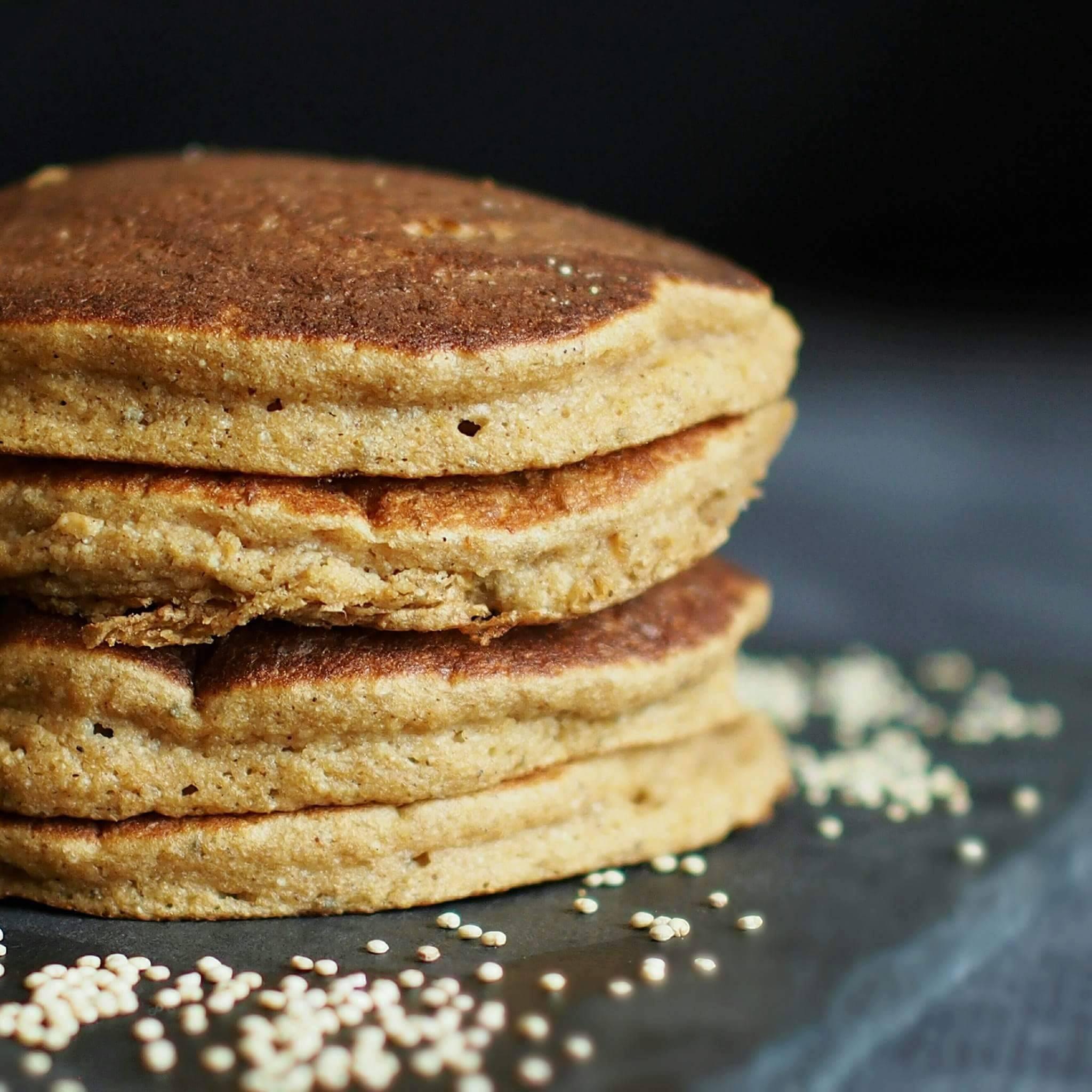 Pancakes pomme quinoa, gonflés et moelleux