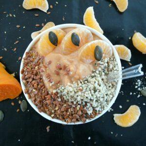 Smoothie bowl minute à la patate douce de Mail0ves - MailoFaitMaison