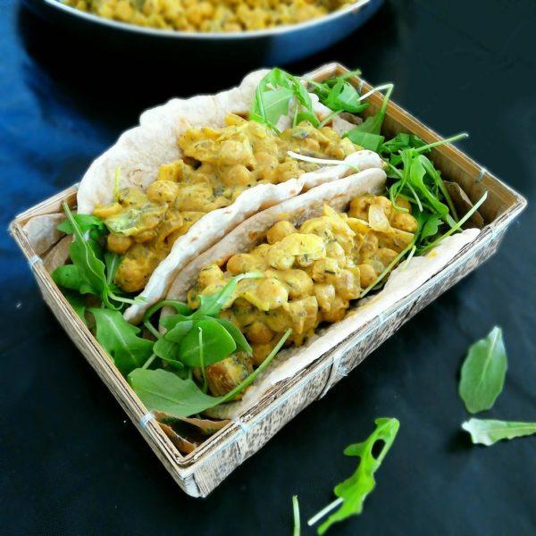 Curry de pois chiche au tofu soyeux
