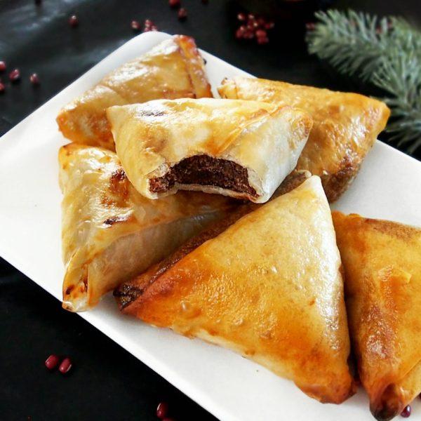 Samoussa aux haricots azukis, recette vegan et sans gluten