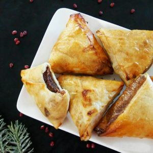samoussa vegan à la frangipane de haricot azukis, recette sans gluten de mail0ves - MailoFaitMaison