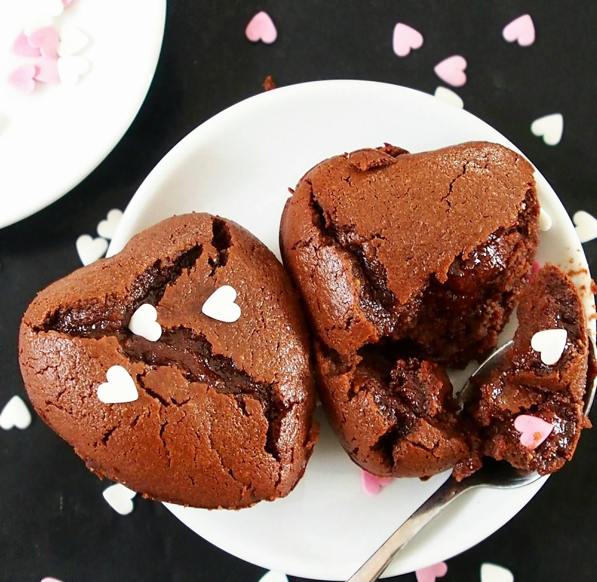 Fondant au chocolat sans beurre, sans huile et sans gluten