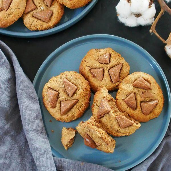 Cookies rustiques moelleux sans huile et sans beurre