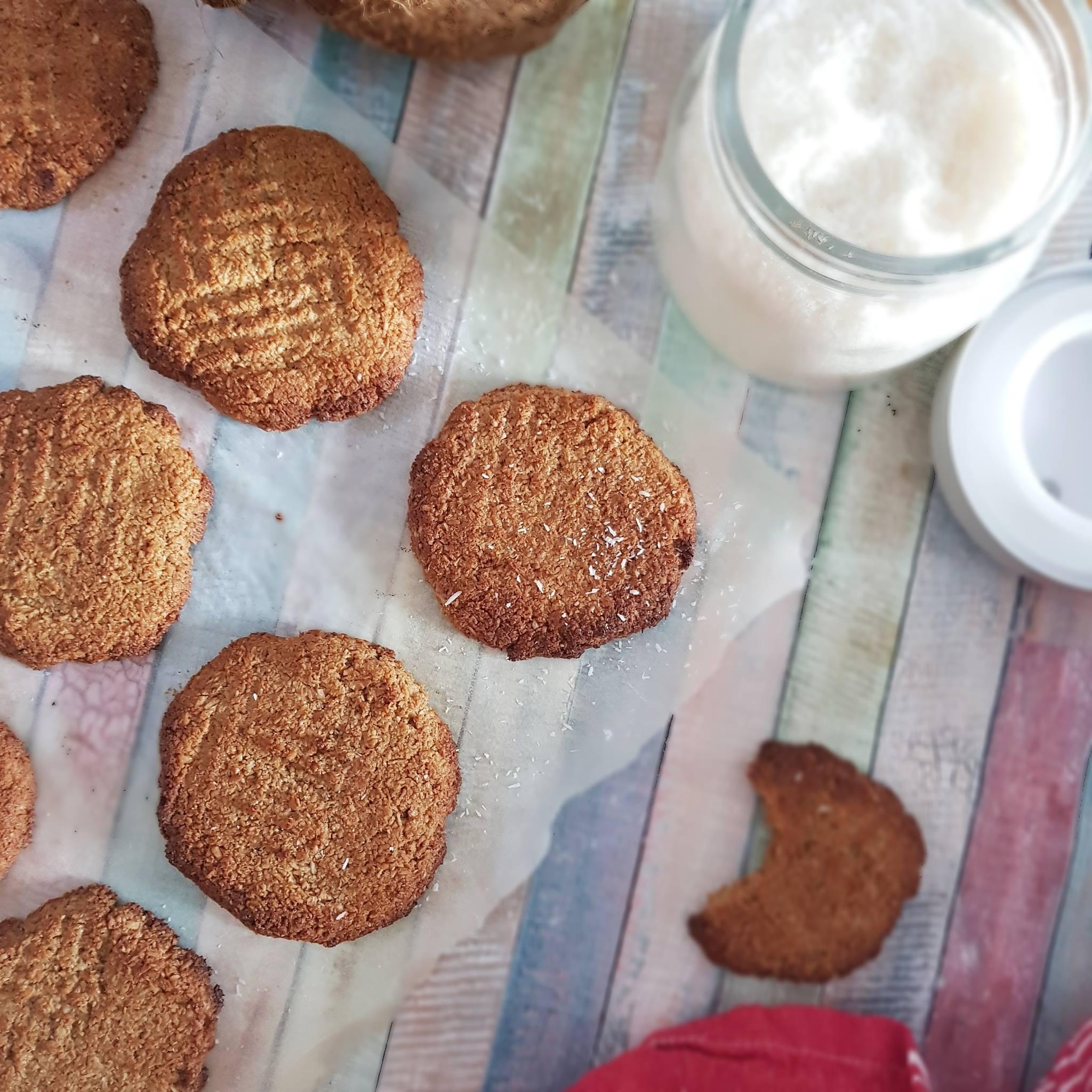 Macarons antillais au coco, la recette saine.
