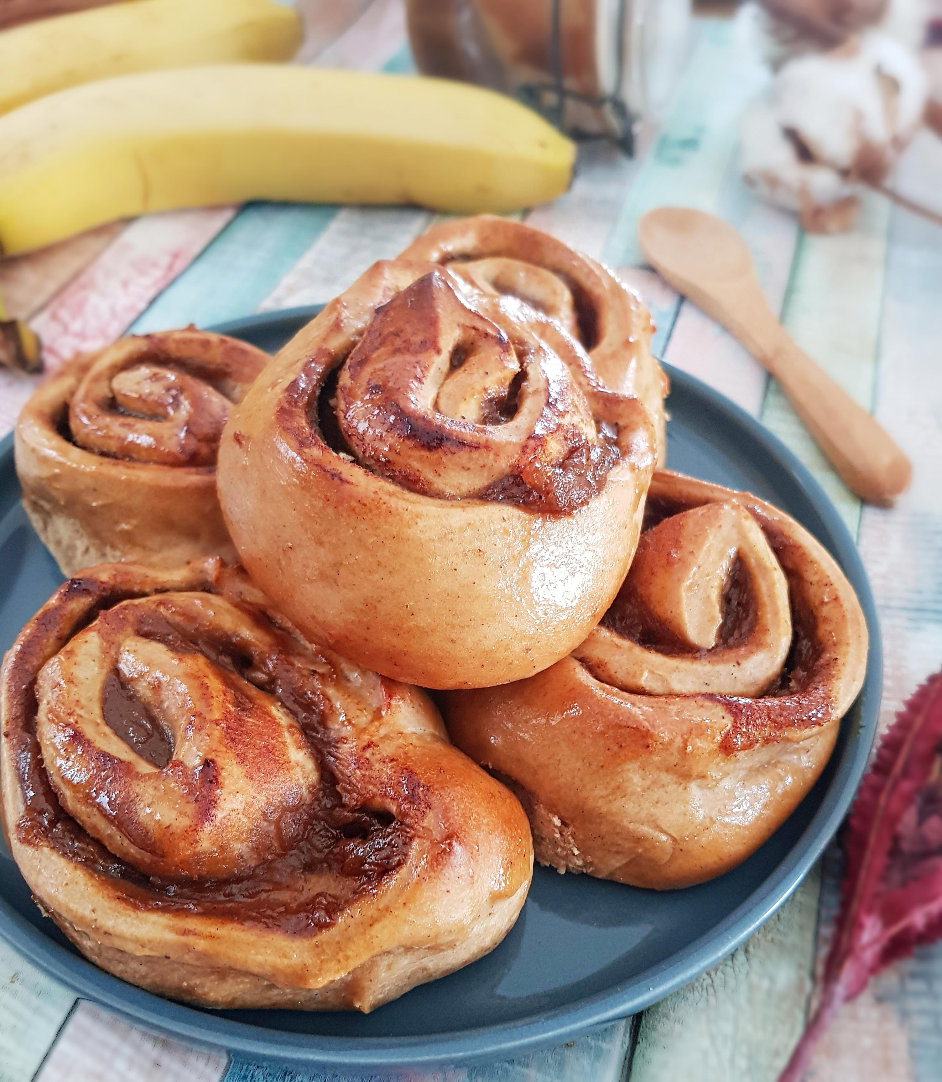 Cinnamon rolls vegans rapides au petit épeautre