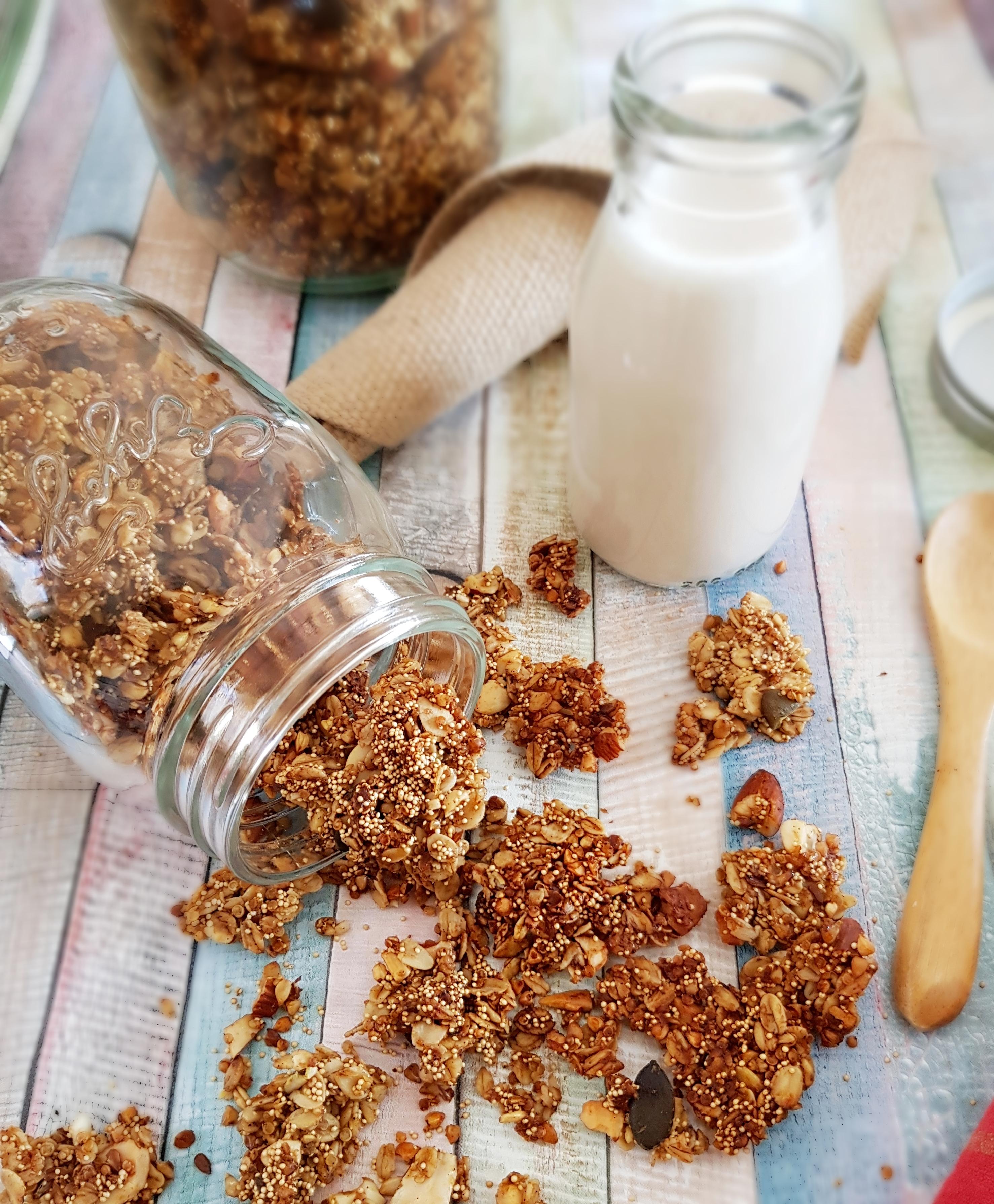 Granola protéiné grâce aux super-pseudo-céréales