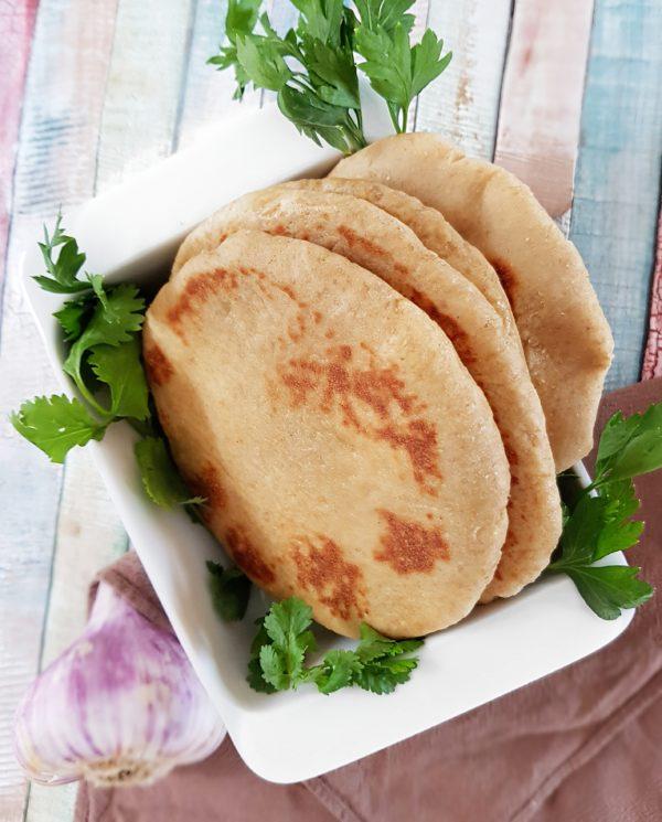 Pain pita moelleux à la farine de kamut