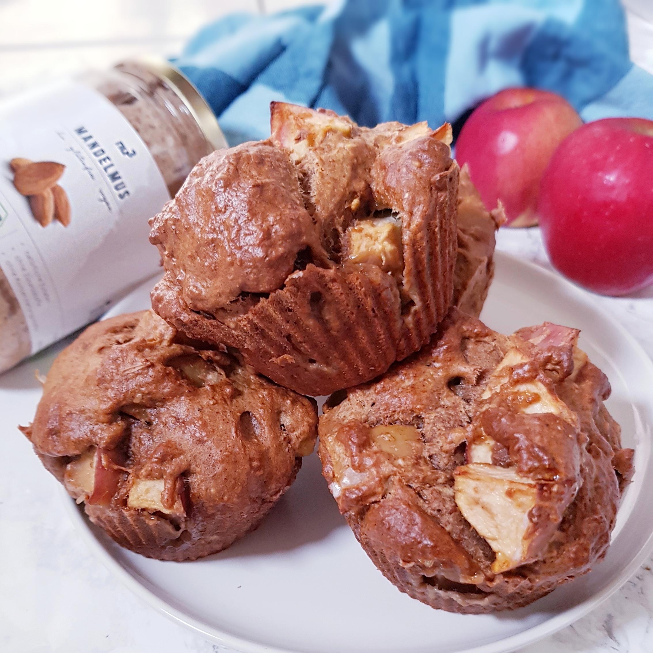 Muffins à la pomme vegans et sans huile à la farine intégrale