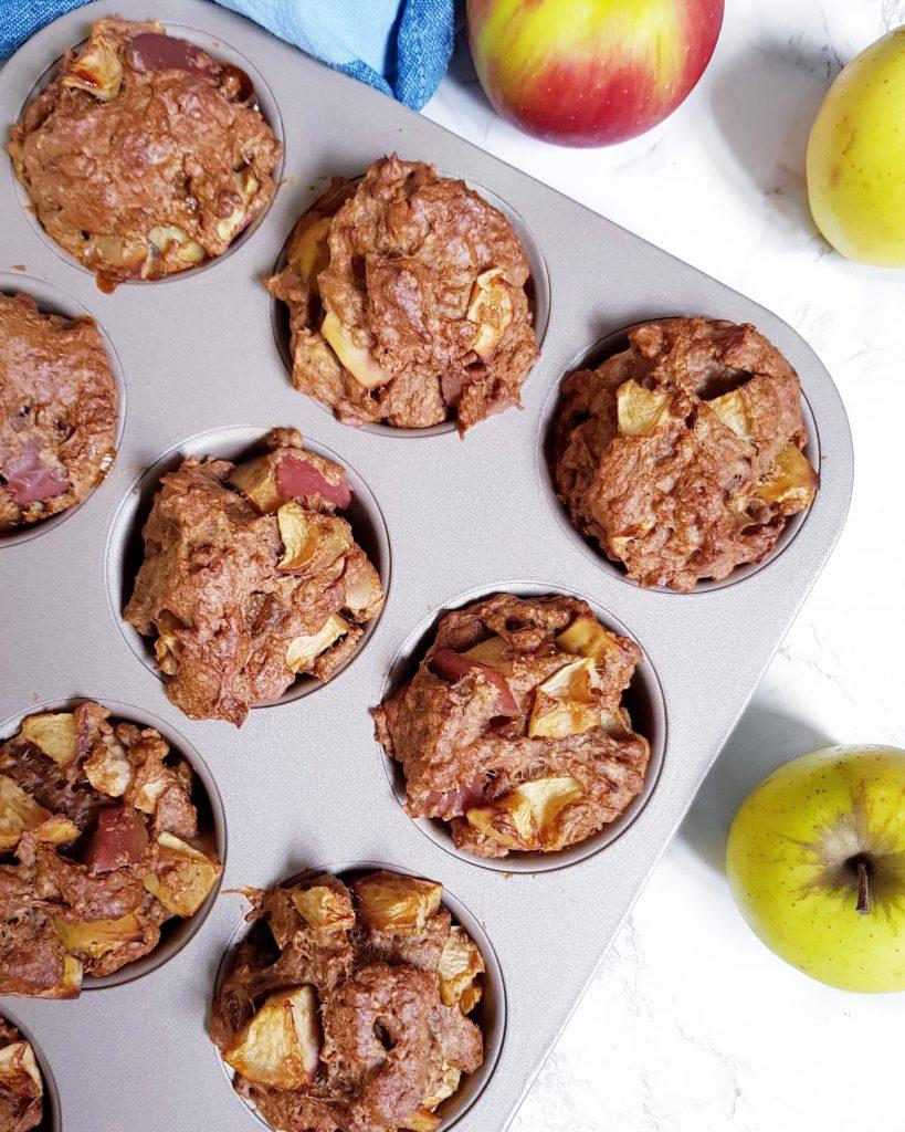muffins à la pomme vegans et sans huile à la farine intégrale de mail0ves - Mailo fait maison