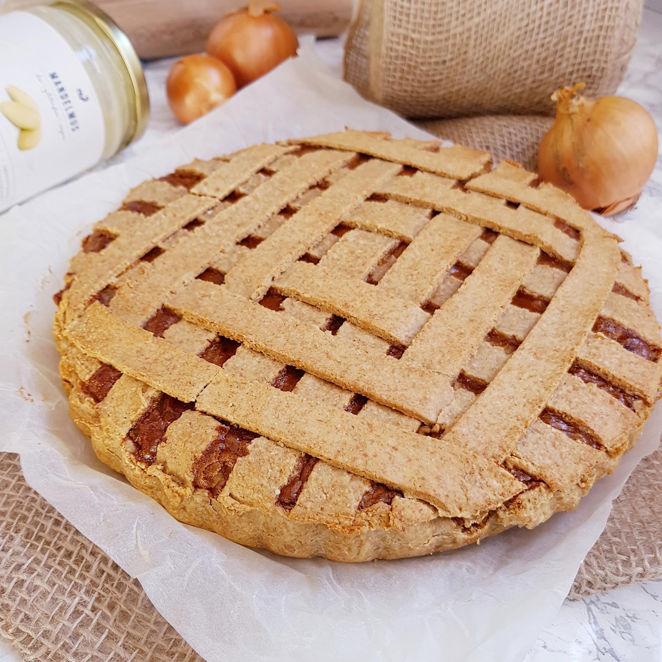 Fond de tarte rapide vegan et sans huile à la farine de pois chiche