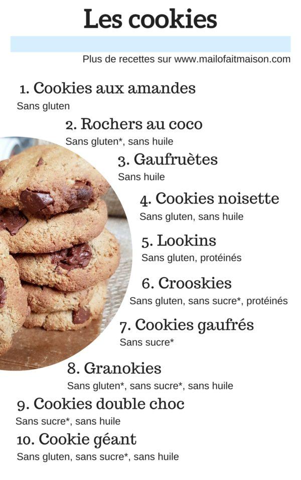 table des matières Cookies Sains Et Gourmands Vegans de maillo fait maison - mail0ves