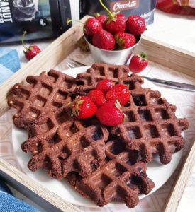 Fit Muffins en gaufres version vegan de mail0ves - Mailo fait maison