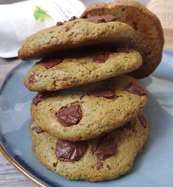 Cookies au Matcha Crousti-Moelleux [Vegan]