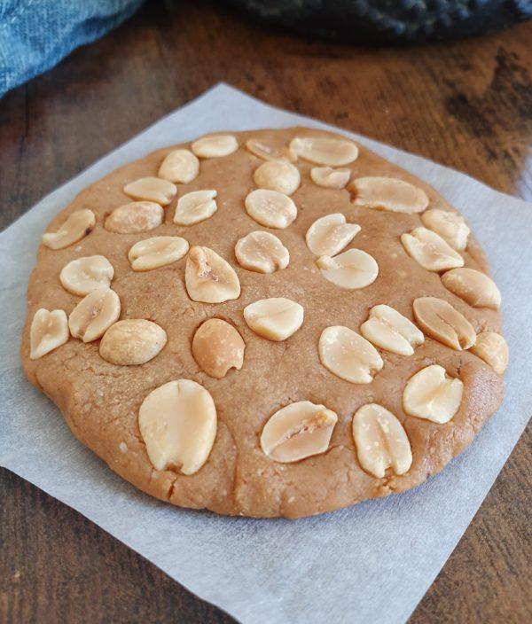 Biscuit fondant au beurre de cacahuète. Recettes Express : 18 gourmandises vegans sucrées et salées au micro-ondes. Ebook et recettes de mail0ves - mailo fait maison