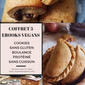 Coffret 5 ebooks pour manger mieux et vegan avec gourmandise de mail0ves - mailo fait maison