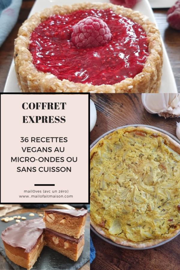 Ebook de 36 recettes vegans express au micro-ondes ou sans cuisson de mail0ves - mailo fait maison