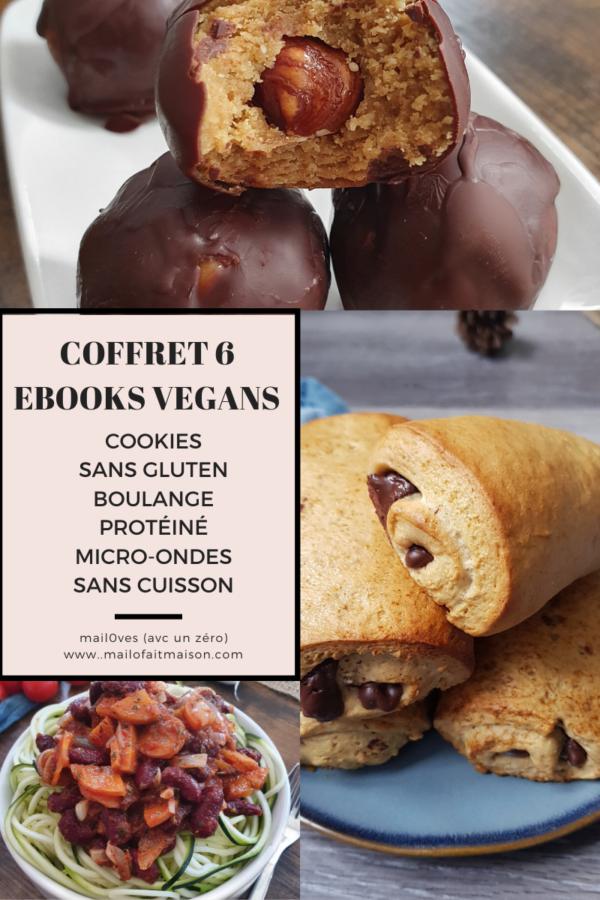 Coffret 6 ebooks pour manger mieux et vegan avec gourmandise de mail0ves - mailo fait maison