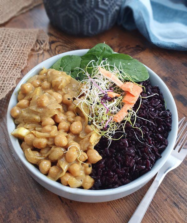 pois chiche tandoori - Ebook Salé Spécial Meal Prep Vegan de Mail0ves - Mailo Fait Maison