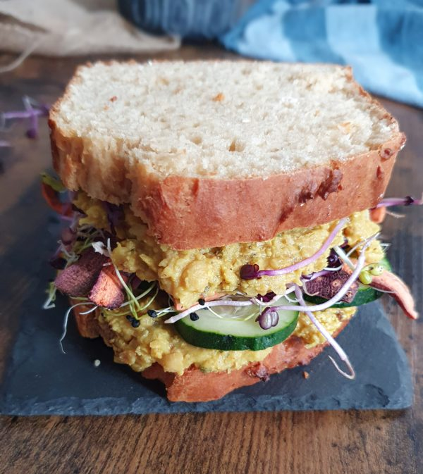 Pois chiche façon egg salad - Ebook Salé Spécial Meal Prep Vegan de Mail0ves - Mailo Fait Maison