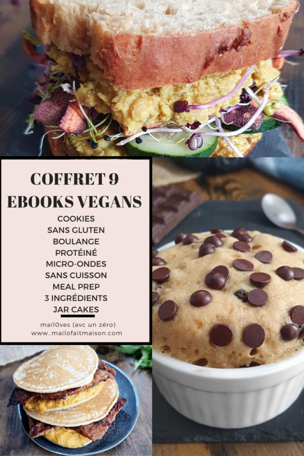 Pack 9 ebooks de recettes vegans faciles à prix réduit de Mail0ves - Mailo fait maison