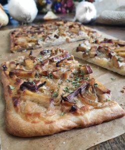 Crème végétale sans soja spécial pizza blanche healthy. La recette de flammekueche vegan de mail0ves- Mailo Fait Maison