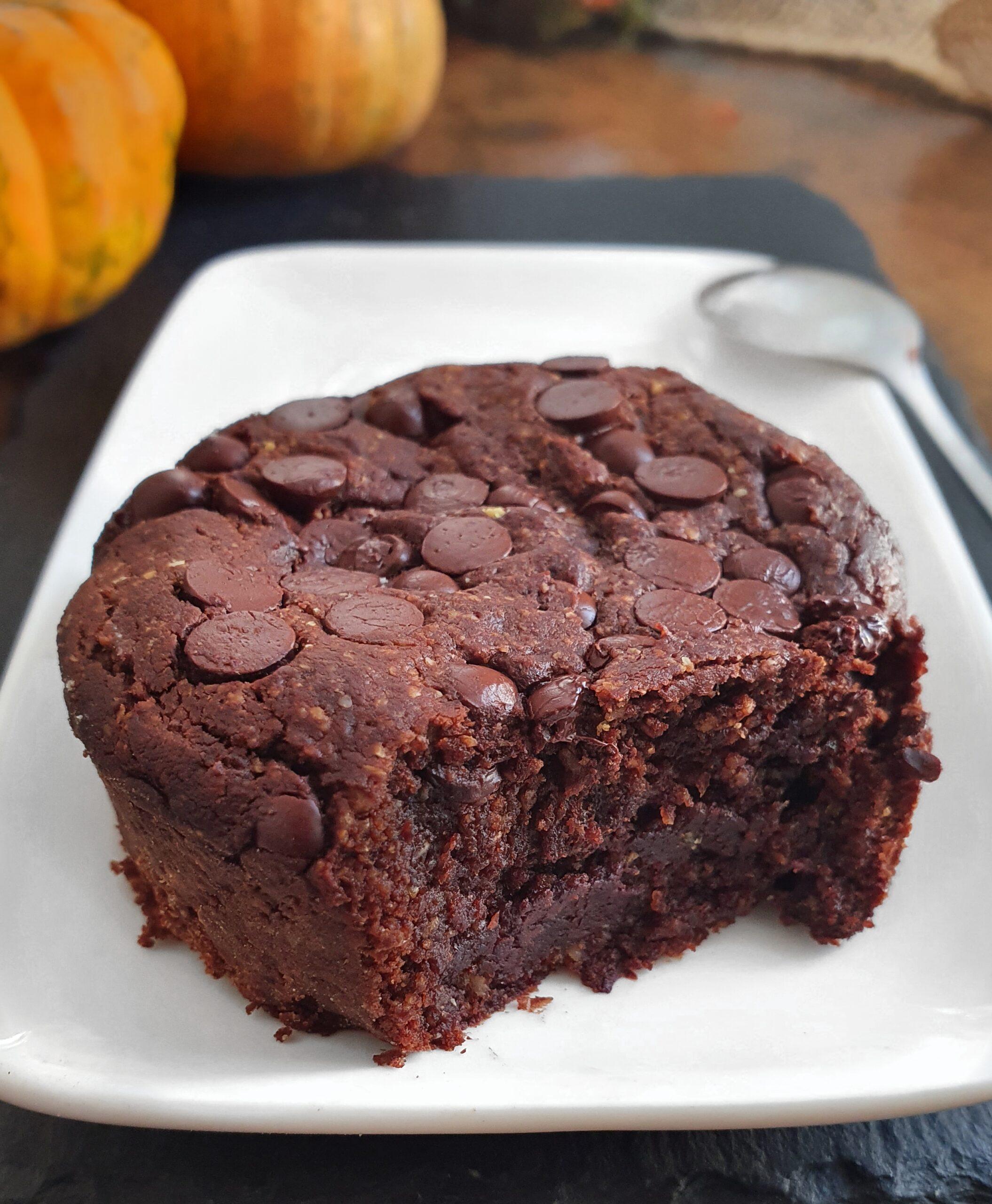 Pumpkin Brownie Fondant Healthy et Sans Gluten (Vegan)