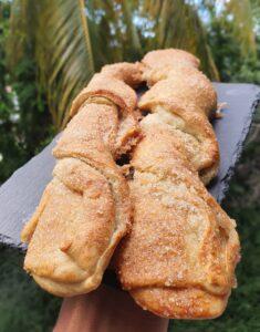 Sacristains antillais briochés express et healthy. La recette de pâtisserie vegan sans oeuf et sans beurre de mail0ves - Mailo Fait Maison