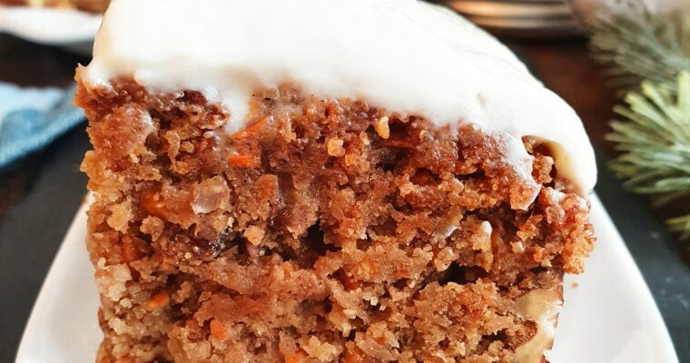 Carrot Cake Vegan, Gourmand et Nutritif (option Sans Gluten)