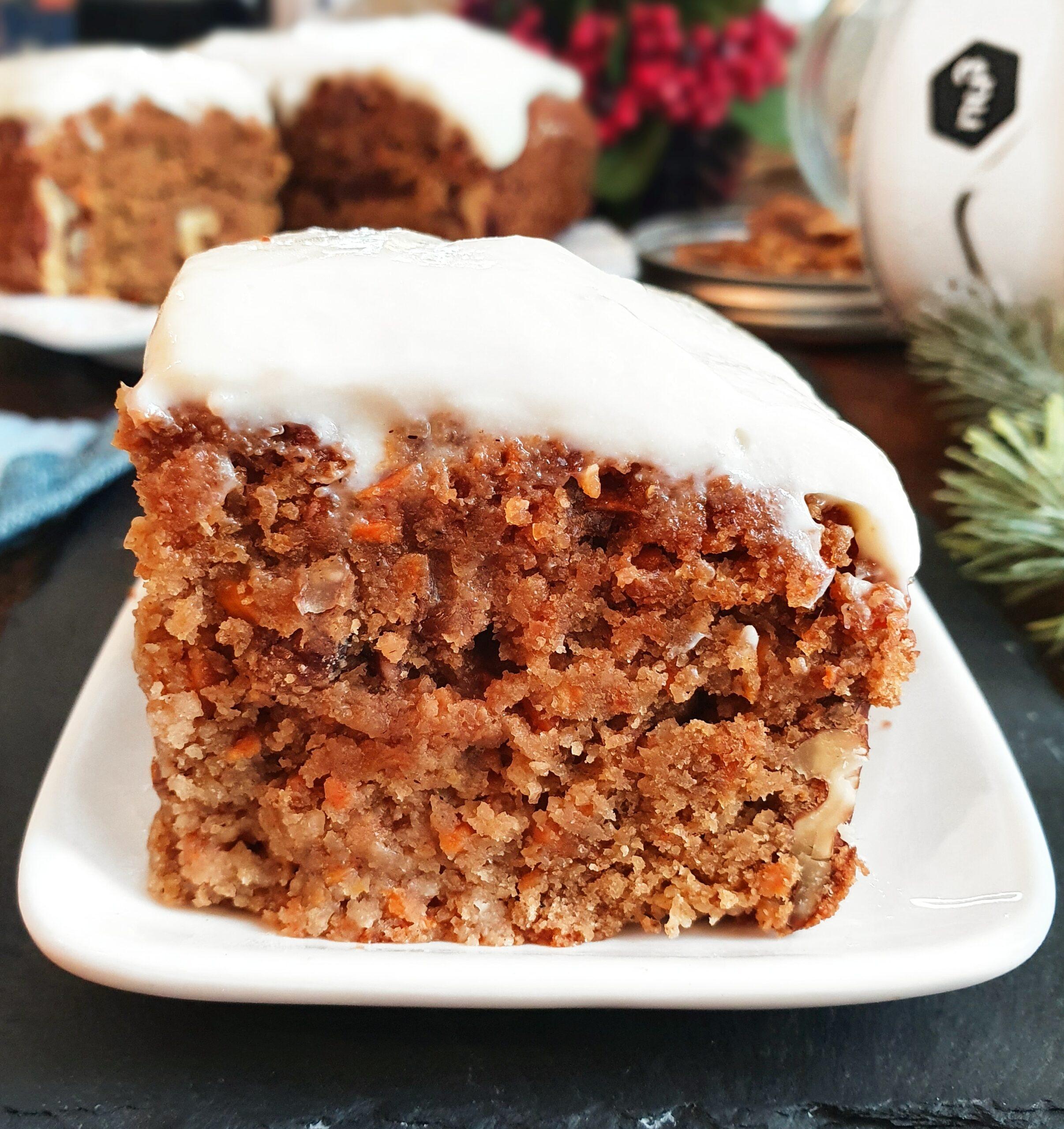 Carrot Cake Vegan, Gourmand et Nutritif (option Sans Gluten)