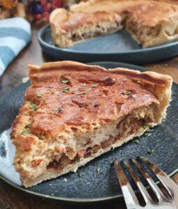 Quiche Végétale Facile façon Quiche Lorraine. La recette de tarte salée vegan healthy de mail0ves - Mailo Fait Maison