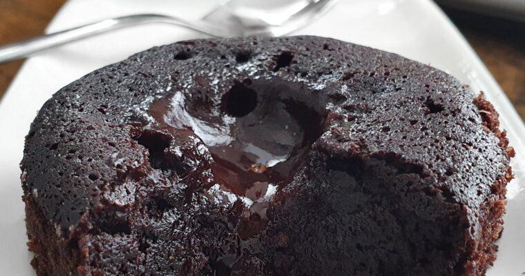 Fondant au Chocolat 4 ingrédients avec Coeur Coulant (Vegan)