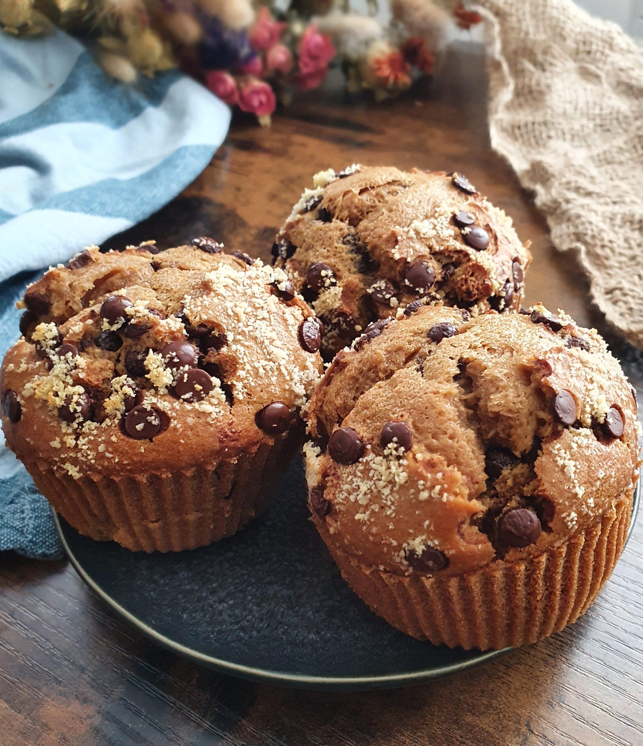 Muffins Très Simples aux Pépites de Chocolat (Vegan)