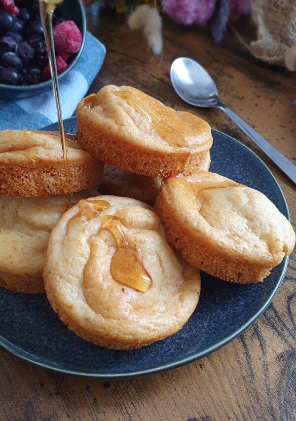 PanMuffins (pancakes au four) 18 Recettes végétales simples, faciles et rapides pour le brunch express ou le petit déjeuner. Recettes natures, sucrées et salées de mail0ves - Mailo Fait Maison